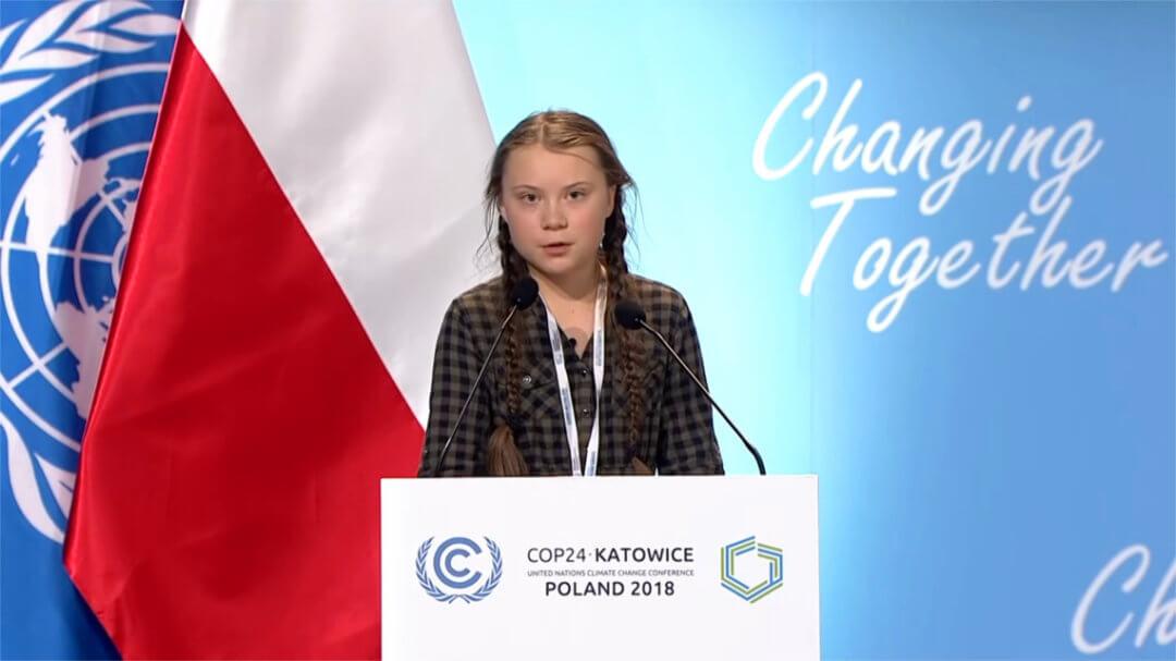 Il discorso di Greta Thunberg